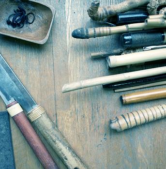 和竿づくりの道具